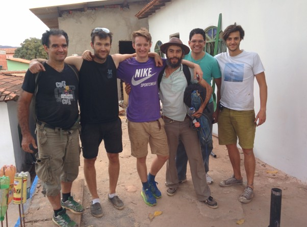 Key people in the execution of the project. From left to right - Luis Carlos Afonso (Berimbau de Ouro), Nick Smallman and Mark Bridger (Ramboll UK), Peter Cezar, Oliver Oliva and Marco Ogno (ILWP)